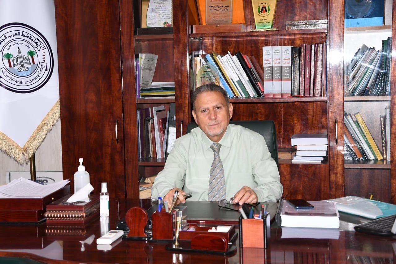 تكليف و مباشرة الأستاذ الدكتور طاهر بمهام عميد كلية شط العرب الجامعة