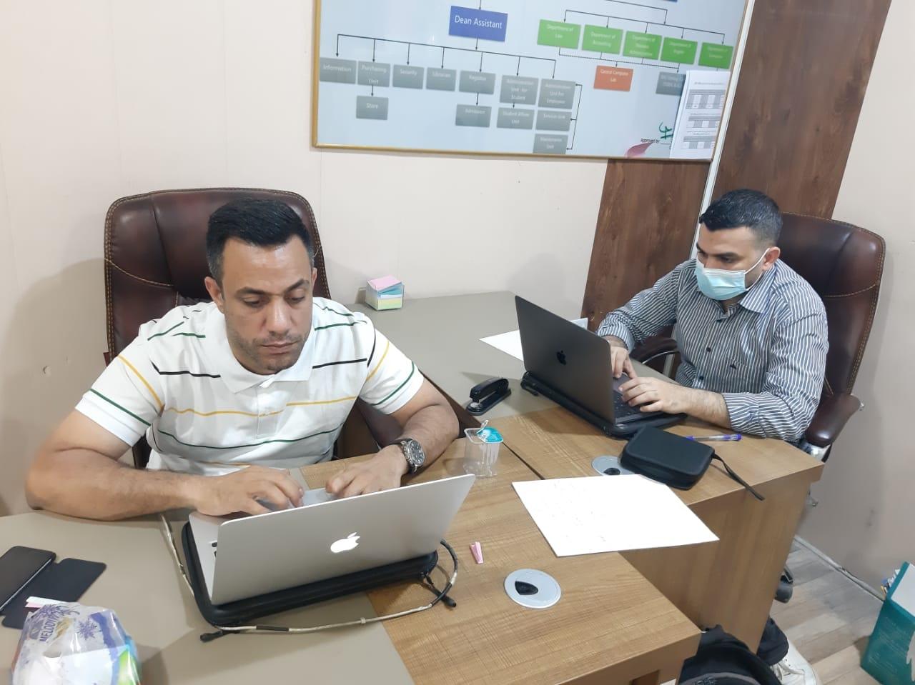انطلاق الامتحانات الالكترونية في قسم علوم الحاسبات - كلية شط العرب الجامعة