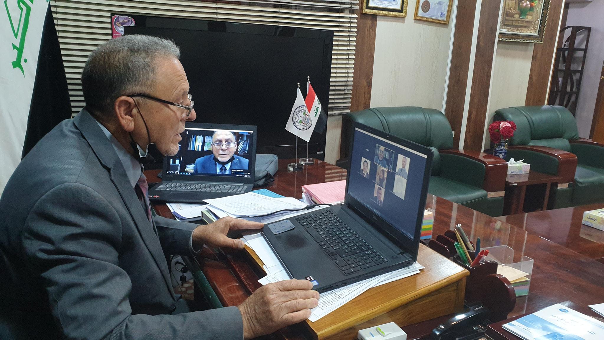 الفريق الوزاري للتعليم الإلكتروني يزور إمتحانات كلية شط العرب الجامعة