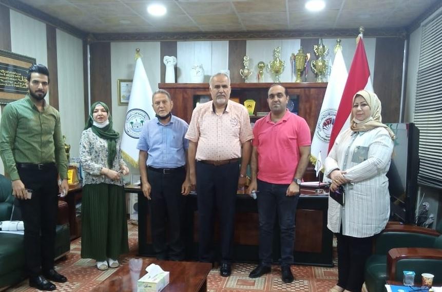 عميد كلية شط العرب الجامعة يلتقي مسؤول و فريق الجودة في الكلية