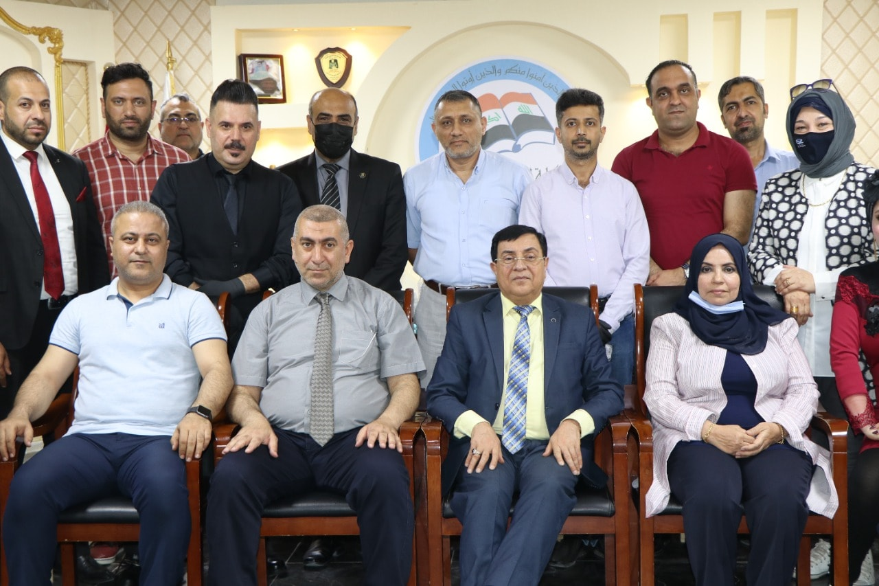 لقاء ممثلي كلية شط العرب مع الفريق الوزاري للتعليم الالكتروني