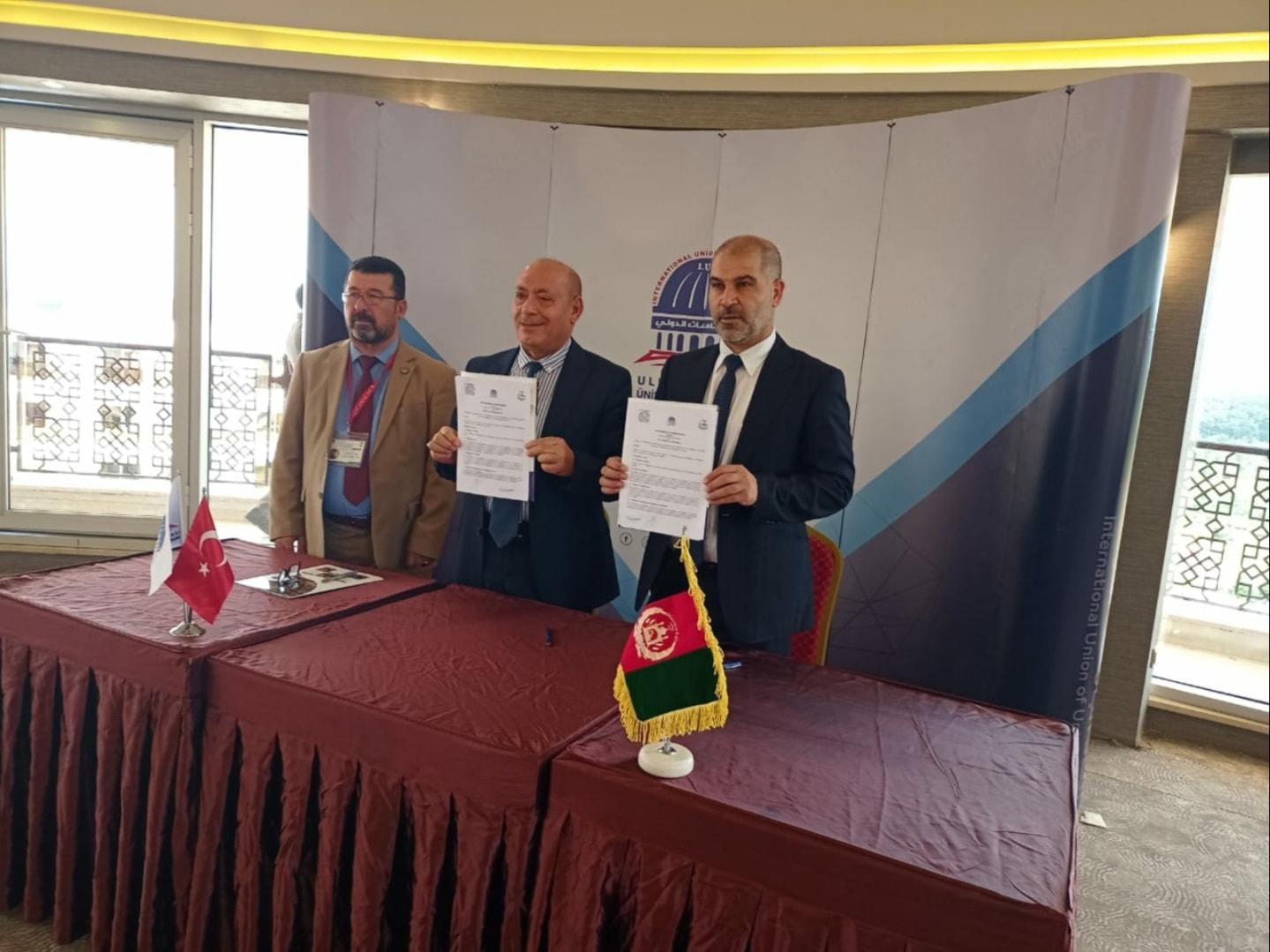 كلية شط العرب الجامعة توقع مذكرة تفاهم مع رابطة الجامعات و معاهد التعليم العالي الاهلية في أفغانستان