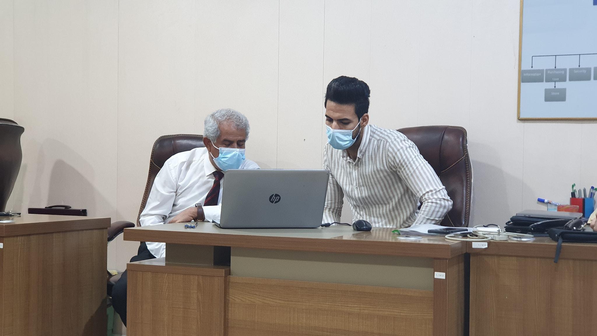 اللجنة الوزارية للأمتحانات الإلكترونية تزور كلية شط العرب الجامعة