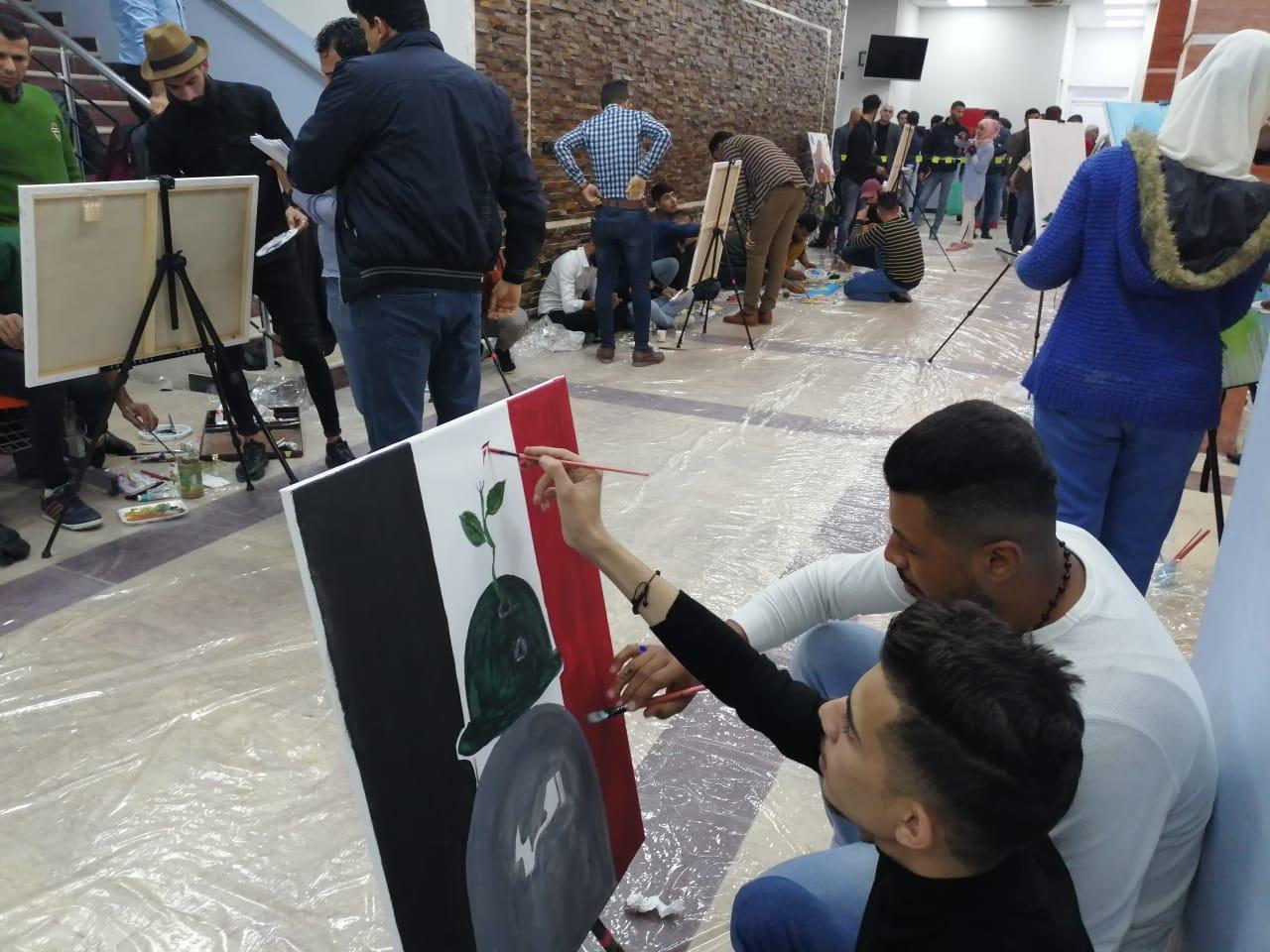 كلية شط العرب الجامعة تشارك في المهرجان الجامعي للفنون التشكيلية والتطبيقية...