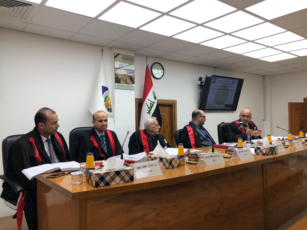 مشاركة السيد عميد الكلية في لجنة مناقشة في معهد العلمين للدراسات العليا