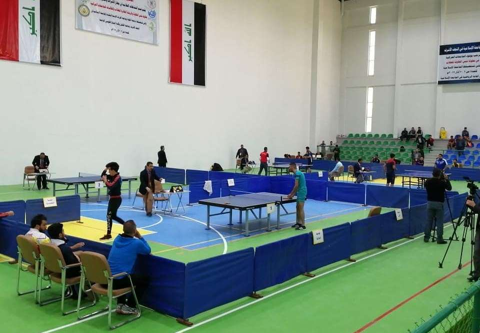 كلية شط العرب الجامعة تشارك في بطولة الريشة الطائرة وتنس الطاولة للطلاب