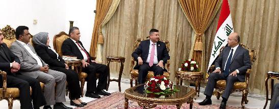 لقاء اتحاد الحقوقيين العراقيين/فرع البصرة الجهة المؤسسة للكلية برئيس الجمهورية