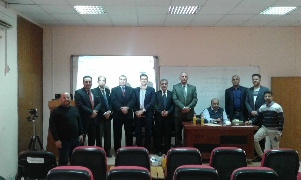 حضور لحنة التعليم الإلكتروني الى ورشة في جامعة البصرة