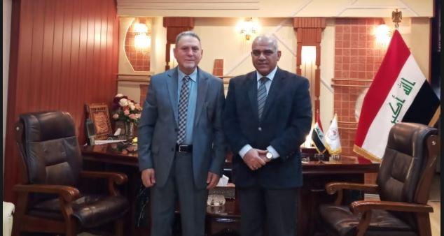 لقاء عميد الكلية بمعالي وزير التعليم العالي والبحث العلمي
