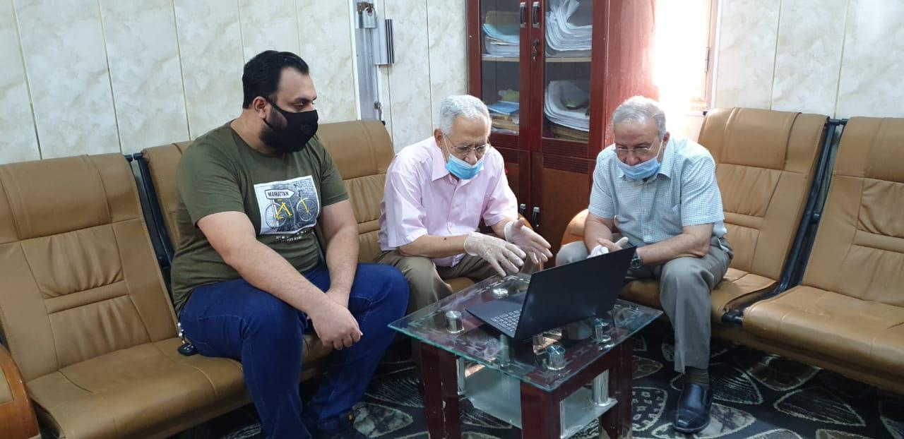 استمرار الإمتحانات الإلكترونية النهائية من قبل طلبة كلية شط العرب الجامعة