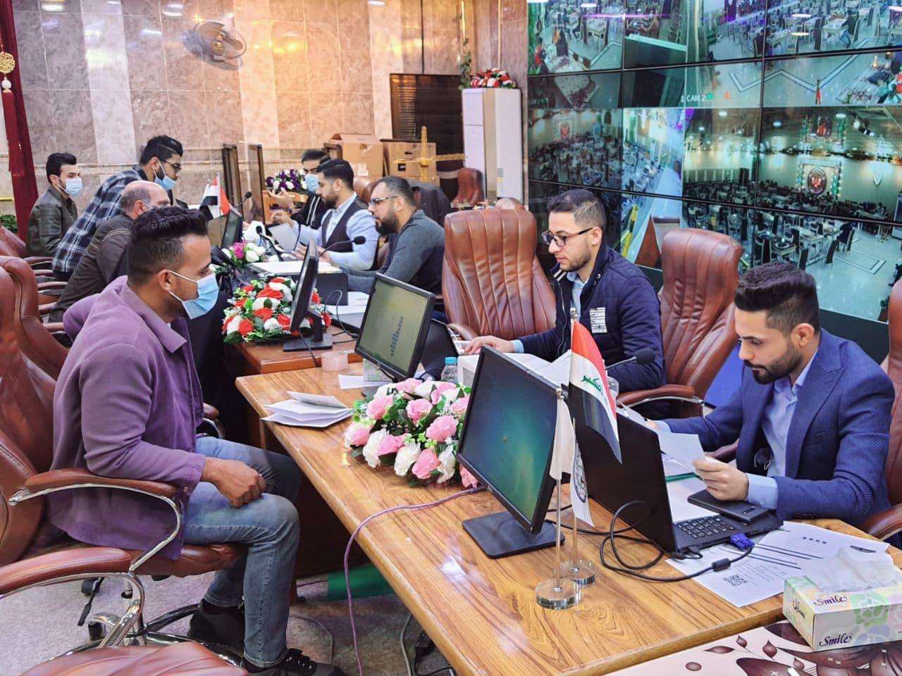 يتواصل طلبة المرحلة الأولى بالتسجيل في كلية شط العرب الجامعة