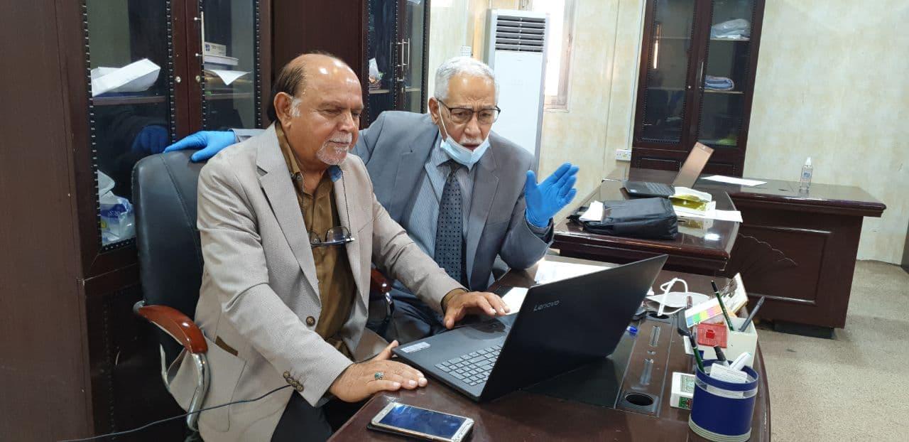 عميد كلية شط العرب الجامعة يزور القاعات الإمتحانية  لقسم أدارة الأعمال