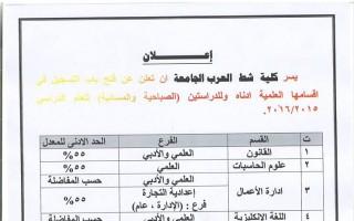 افتتاح الاستمارة الالكترونية للعام الدراسي ٢٠١٦/٢٠١٥