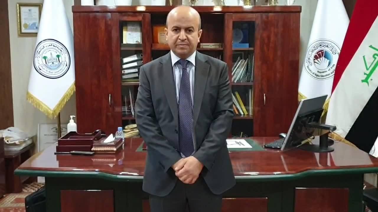 كلمة السيد عميد كلية شط العرب الجامعة بمناسبة أنتهاء الإمتحانات إلكترونية للعام الدراسي 2020-2019