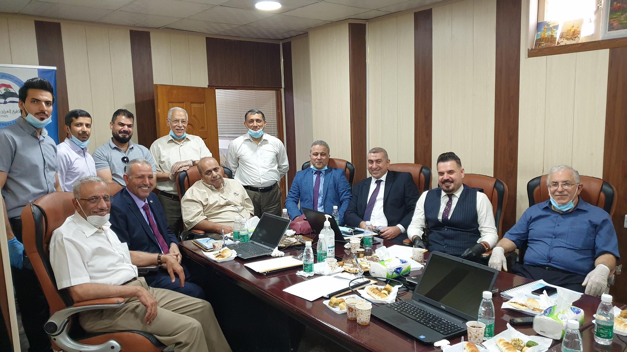 لقاء ممثلي كلية شط العرب الجامعة مع الفريق الوزاري للتعليم الالكتروني