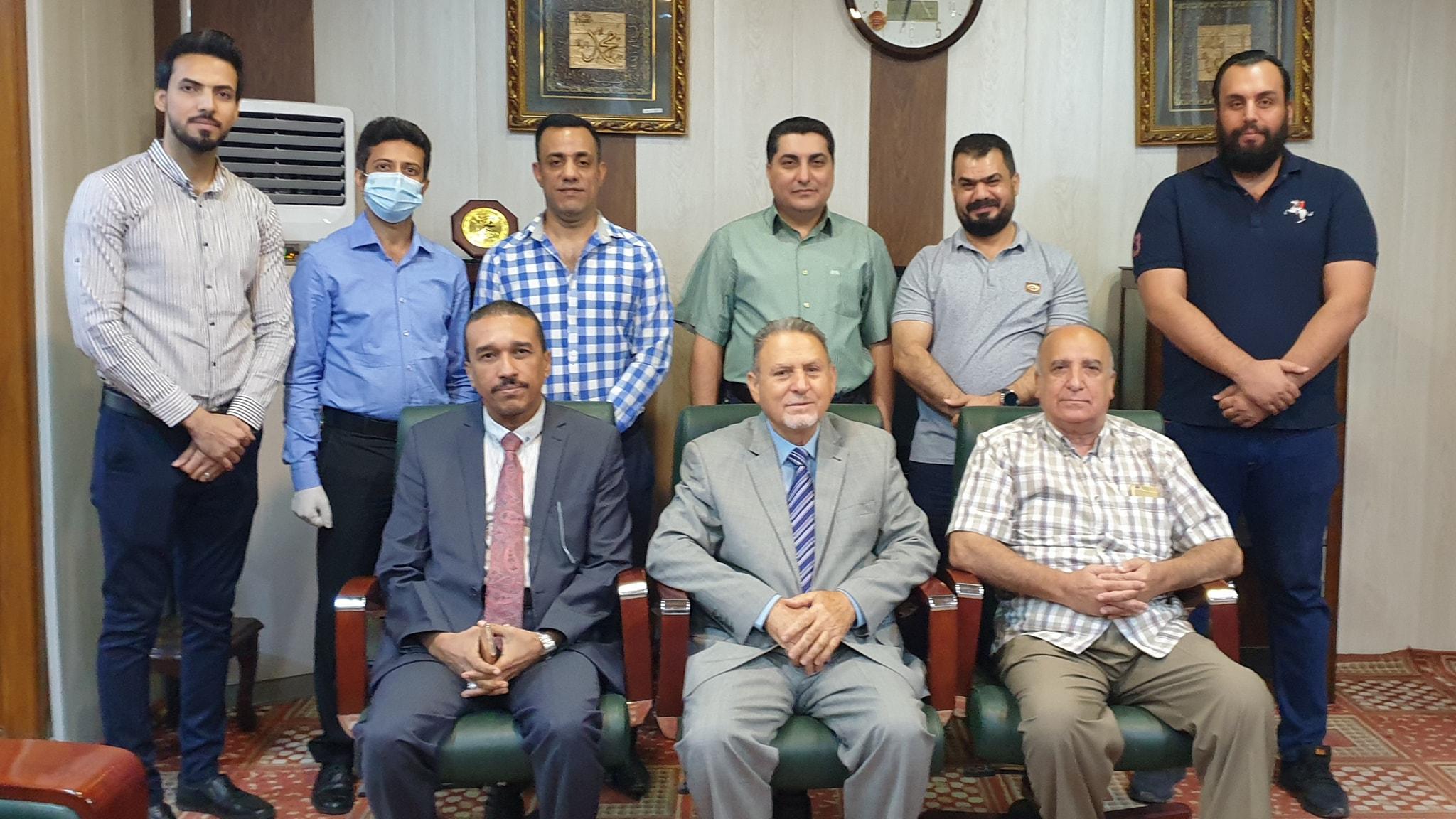 لقاء عميد كلية شط العرب مع اساتذة قسم علوم الحاسبات