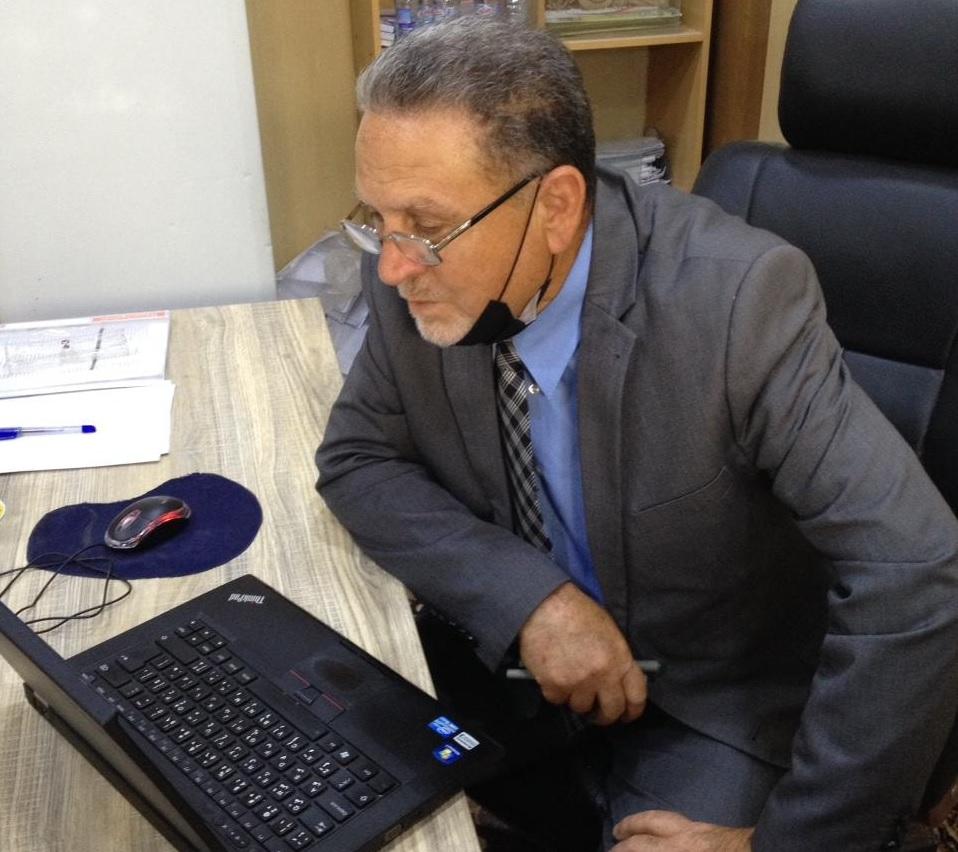 عميد كلية شط العرب الجامعة يتفقد القاعات الإمتحانية لقسم اللغة الإنكليزية
