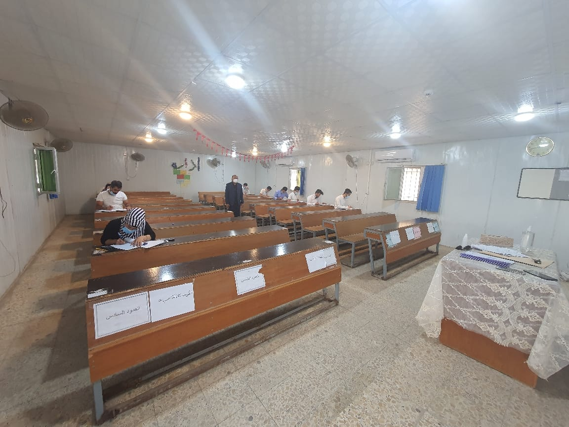 استمرار الإمتحانات الحضورية للفصل الأول في كلية شط العرب الجامعة