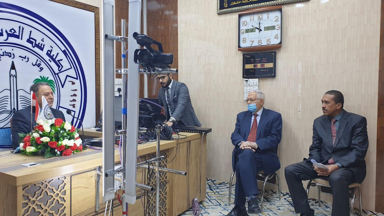 كلمة العميد بمناسبة افتتاح استوديو التصوير الصوتي والمرئي في كلية شط العرب الجامعة