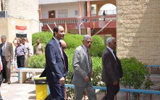 زيارة السيد رئيس جامعة البصرة لتفقد سير الأمتحانات