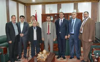 زيارة  السيد وزير الاتصالات الى كلية شط العرب الجامعة