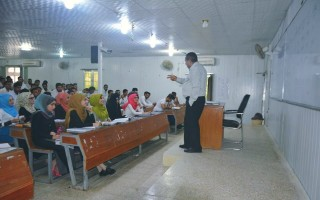 حلقة دراسية لطلبة المرحلة الرابعة في القسم إدارة الاعمال